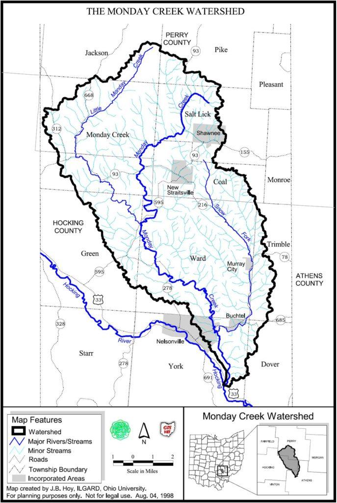 Monday Creek Map